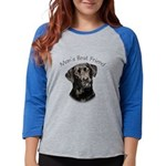 Mans Best Friend Womens Baseball Tee