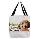 Must Love Doxies Polyester Tote Bag