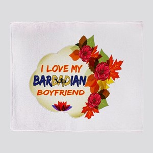 Barbadian Boyfriend designs Throw Blanket