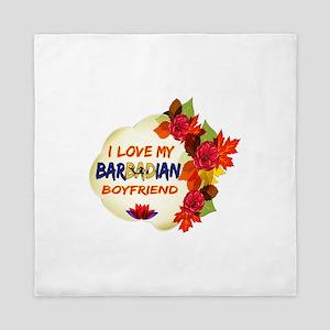 Barbadian Boyfriend designs Queen Duvet