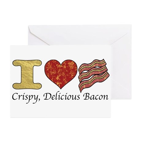 Crispy Delicious Bacon Greeting Cards (Pk of 20)