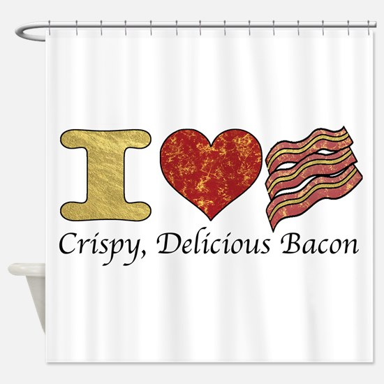 Crispy Delicious Bacon Shower Curtain