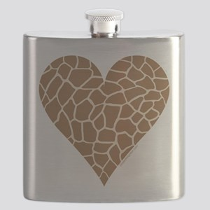 I Love Giraffes Flask