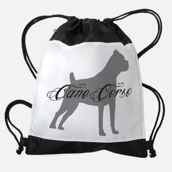 graysilhouette.png Drawstring Bag