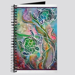 Turtles! Sea turtles! Wildlife art! Journal