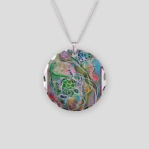 Turtles! Sea turtles! Wildlife art! Necklace Circl