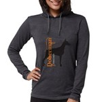 grungesilhouette.png Womens Hooded Shirt