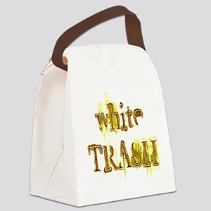 White Trash Canvas Lunch Bag
