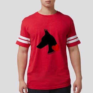 heartsilhouette Mens Football Shirt