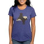 jump Womens Tri-blend T-Shirt