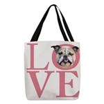 love Polyester Tote Bag