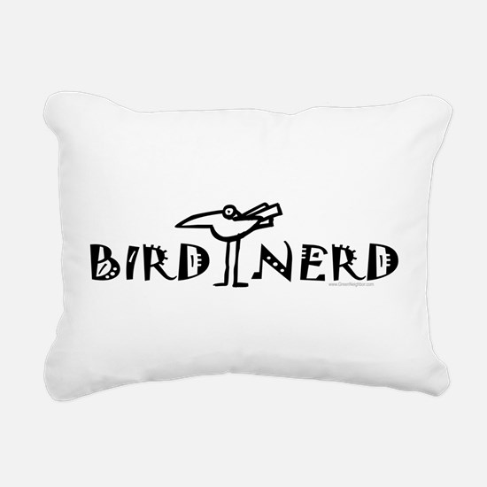 Birdwatching Rectangular Canvas Pillow
