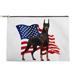 Patriotic Doberman Makeup Pouch