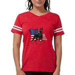 Patriotic Doberman Womens Football Shirt
