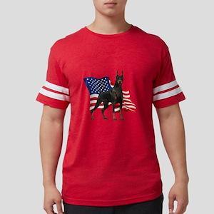 Patriotic Doberman Mens Football Shirt