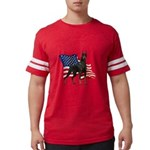 Patriotic Doberman Mens Football Shirt