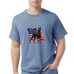 Patriotic Doberman Mens Comfort Colors Shirt