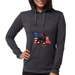 Patriotic Doberman Womens Hooded Shirt