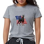 Patriotic Doberman Womens Tri-blend T-Shirt