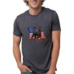 Patriotic Doberman Mens Tri-blend T-Shirt