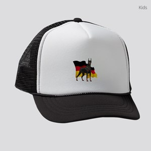 German Flag Doberman Kids Trucker hat