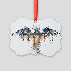 Americana Eagle Picture Ornament
