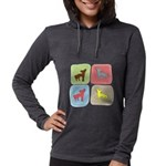colorblock3 Womens Hooded Shirt
