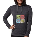 colorblock Womens Hooded Shirt