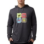 colorblock Mens Hooded Shirt