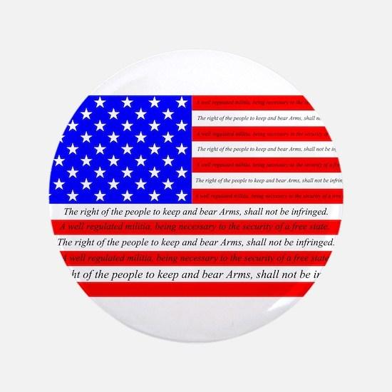 "Flag with 2nd Amendment 3.5"" Button"