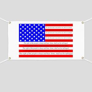 Flag with 2nd Amendment Banner