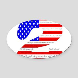 Flag2 Oval Car Magnet