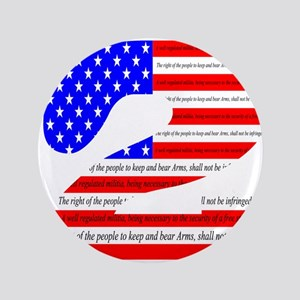 "Flag2 3.5"" Button"