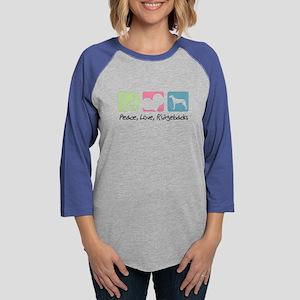 peacedogs Womens Baseball Tee