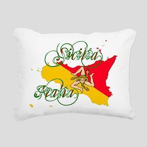 Sicilia Italia Rectangular Canvas Pillow