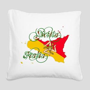 Sicilia Italia Square Canvas Pillow
