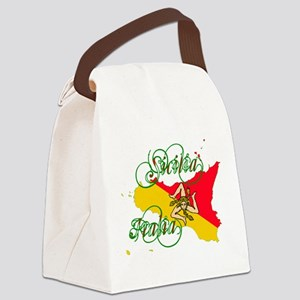 Sicilia Italia Canvas Lunch Bag