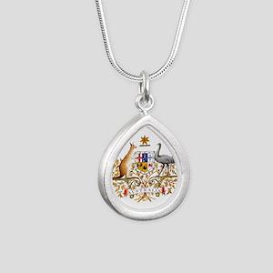 Australian COA Silver Teardrop Necklace