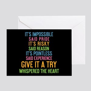 It's Impossible Greeting Card