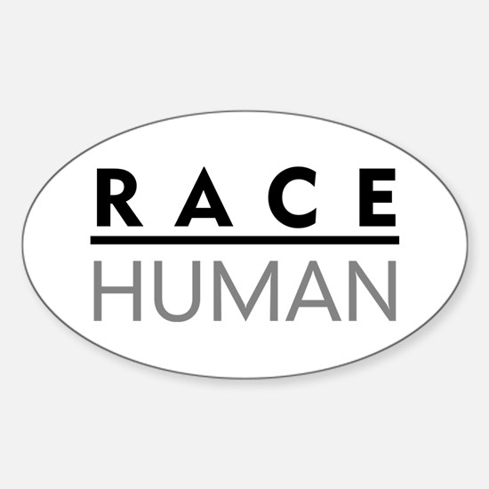 Race Human Oval Decal