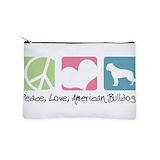 American bulldog Makeup Bags