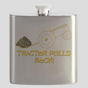 Tractor Pulls Rock Flask