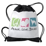 peacedogs.png Drawstring Bag