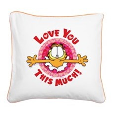 Love You This Much! Square Canvas Pillow