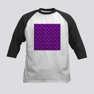 Purple Damask Pattern. Kids Baseball Jersey