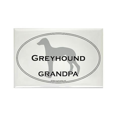 Greyhound GRANDPA Rectangle Magnet