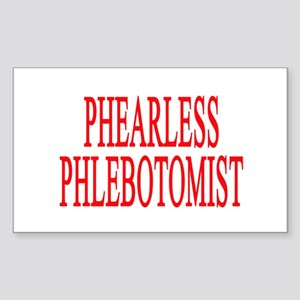 PHEARLESS PHLEBOTOMIST GIFTS Rectangle Sticker