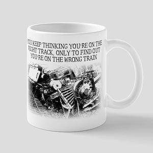 Right Track Wrong Train Funny T-Shirt Mug