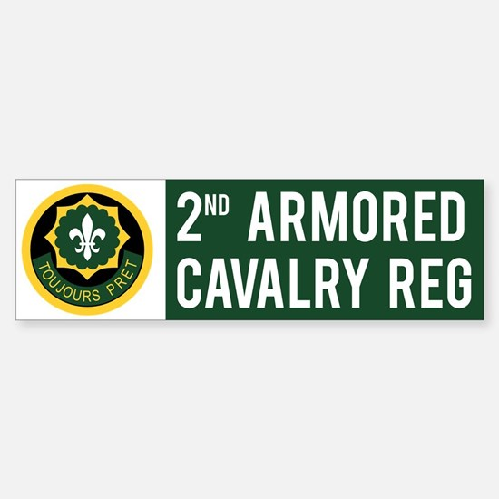 2nd Armored Cavalry Sticker (Bumper)