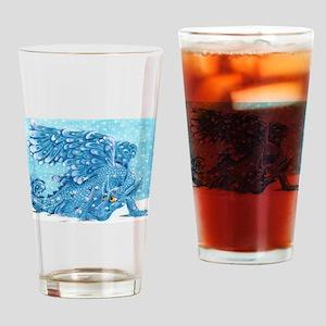 Snow Dragon Drinking Glass